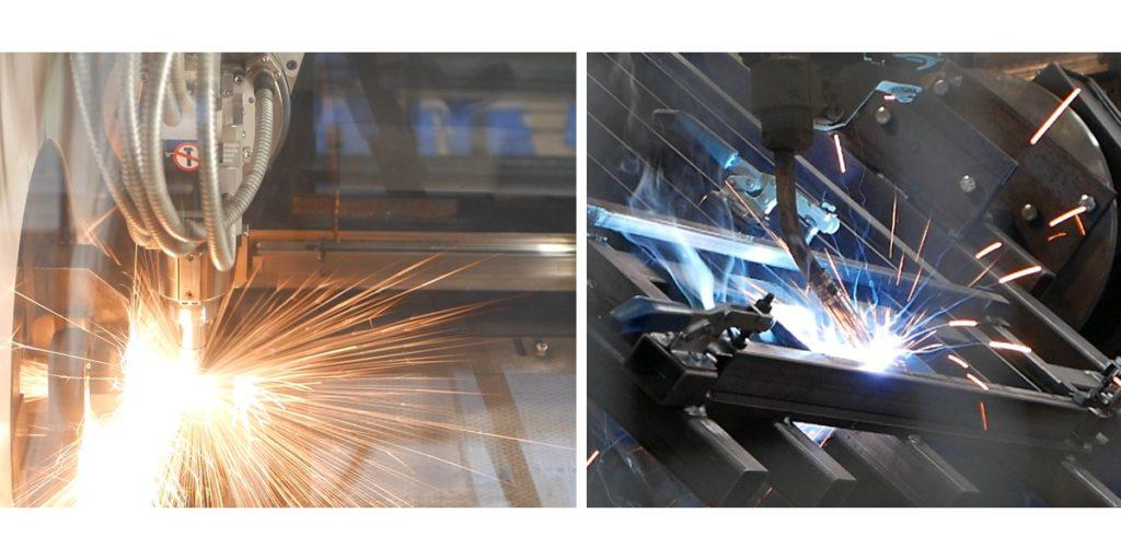 Produktion der Geländer