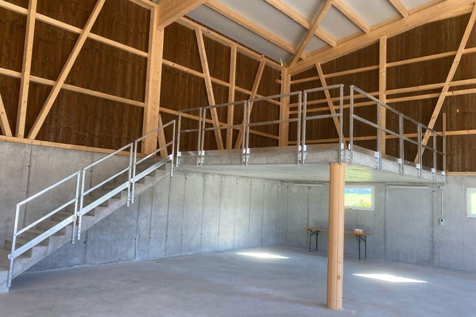 Stahl Geländer mit flexiblen Winkel für Treppen und Industrie