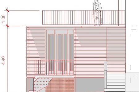 Zeichnung Baugesuch Geländer